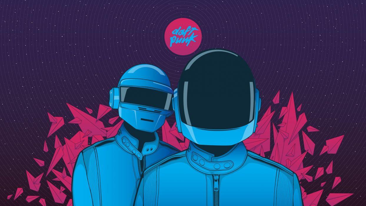 music Daft Punk colors wallpaper