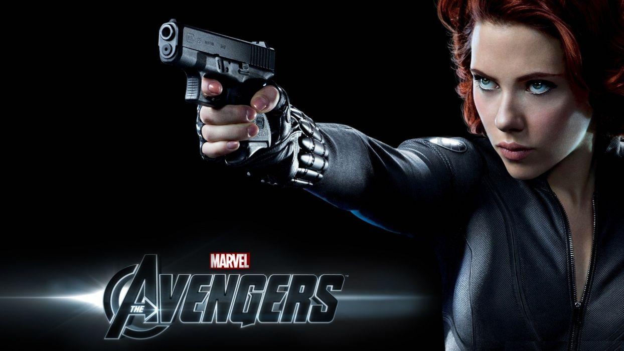 Scarlett Johansson Black Widow Natasha Romanoff The Avengers (movie) wallpaper