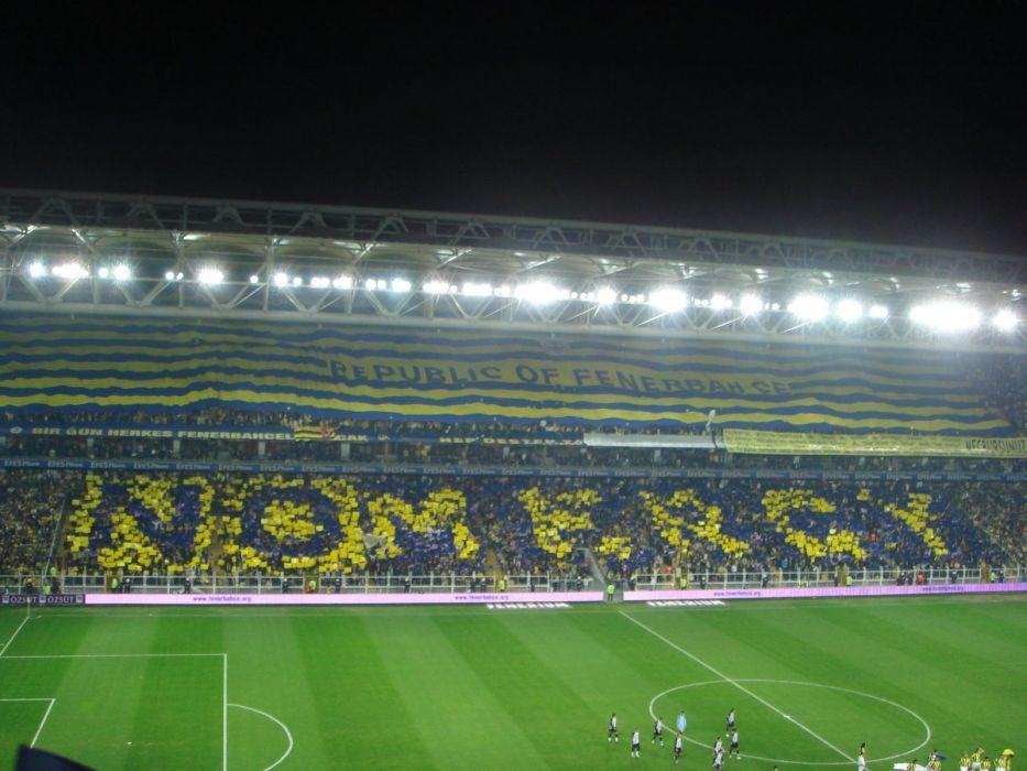 Sports soccer stadium Fenerbahce football fans wallpaper