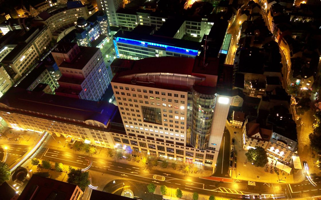cityscapes night architecture urban buildings city lights wallpaper
