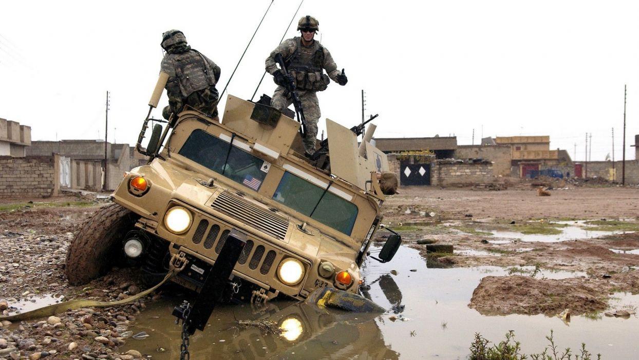 war fail Iraq US Army vehicles Hummer wallpaper