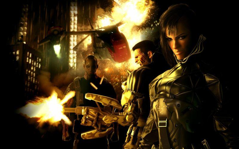 futuristic Deus Ex revolution human Detroit mercenaries Square Enix Deus Ex: Human Revolution Eidos role playing game sci-fi action wallpaper