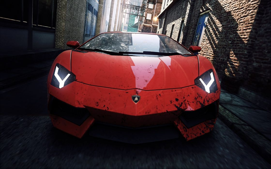 video games cars Lamborghini Aventador Need for Speed Most Wanted pc games wallpaper