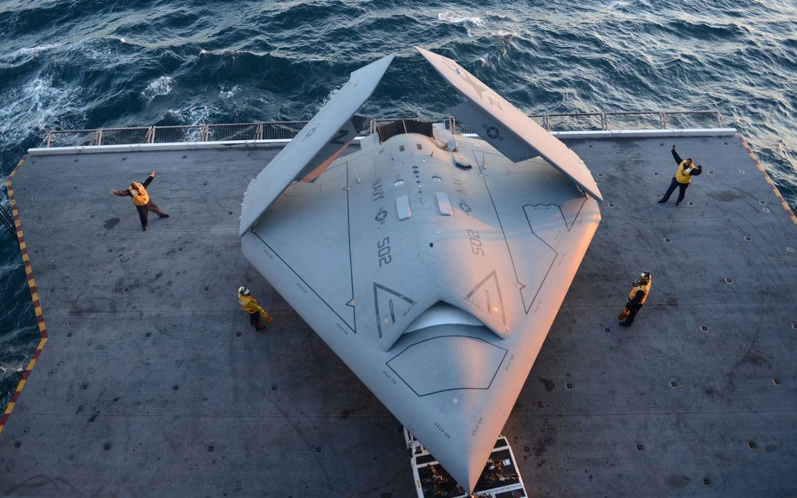 aircraft aircraft carriers drones X-47B wallpaper
