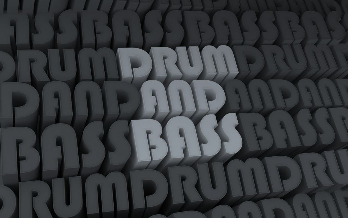 letters drum and bass wallpaper