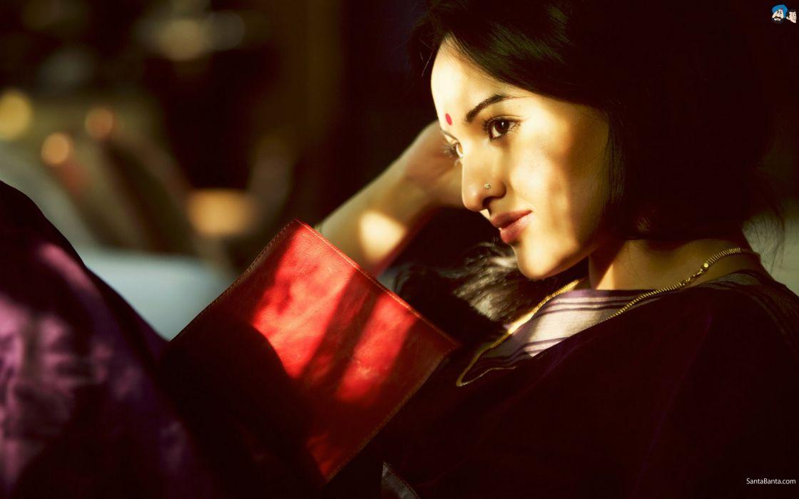 women actress Bollywood indian girls Sonakshi Sinha Bollywood actress photo shoot stills models wallpaper