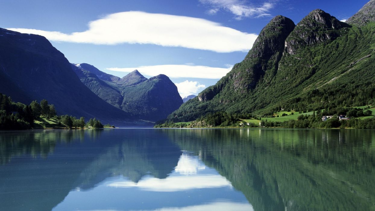 water mountains landscapes nature wallpaper