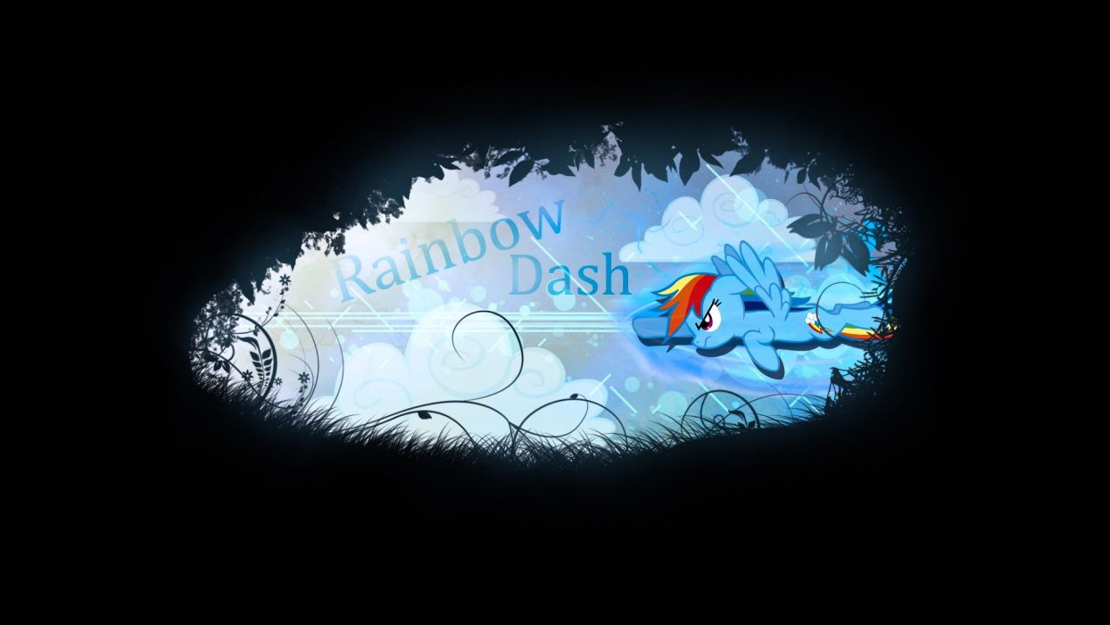 ponies Rainbow Dash My Little Pony: Friendship is Magic wallpaper