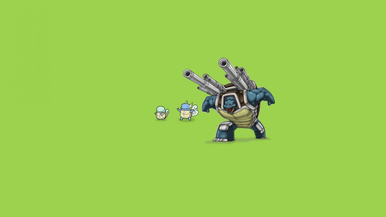 green Pokemon simple background wallpaper