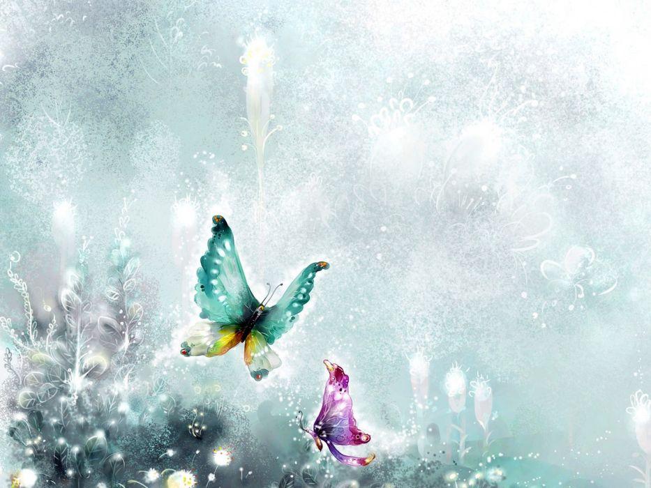 fantasy butterflies wallpaper