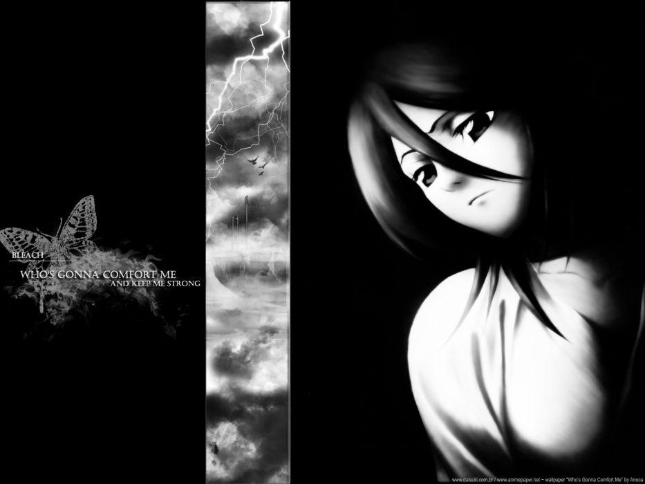 Bleach grayscale Kuchiki Rukia wallpaper