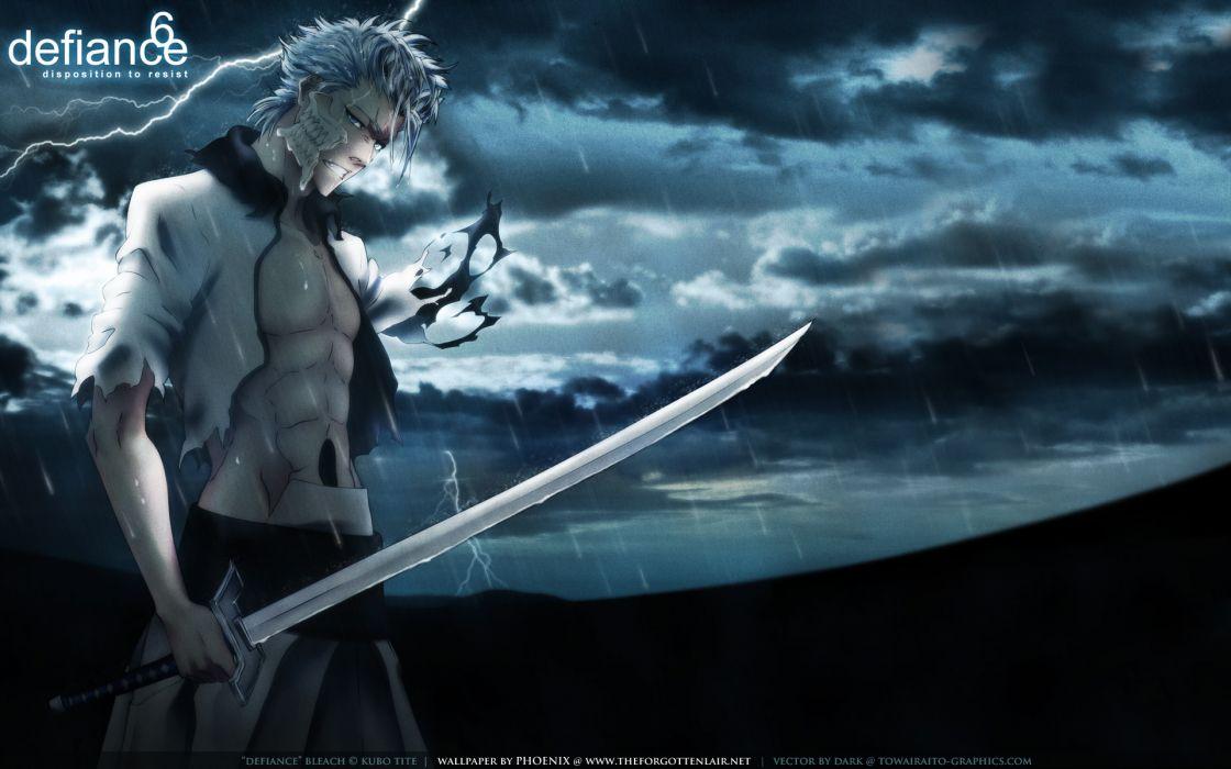 Bleach Espada Grimmjow Jaegerjaquez swords wallpaper