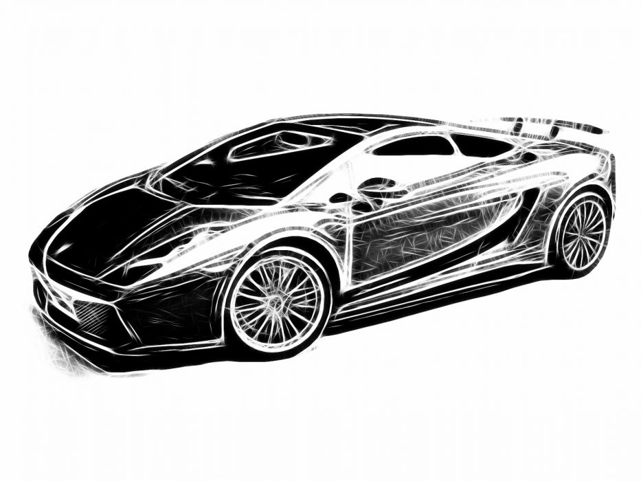 cars Fractalius Lamborghini vehicles wallpaper