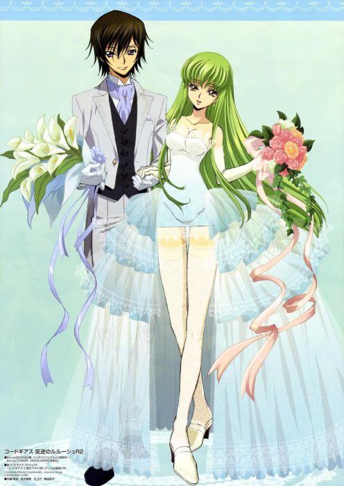 Code Geass artwork Lamperouge Lelouch C_C_ anime wallpaper
