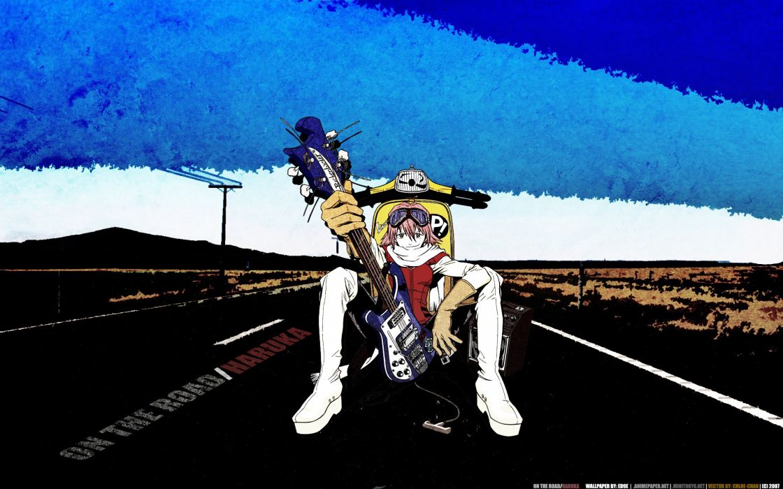 FLCL Fooly Cooly Haruhara Haruko anime wallpaper
