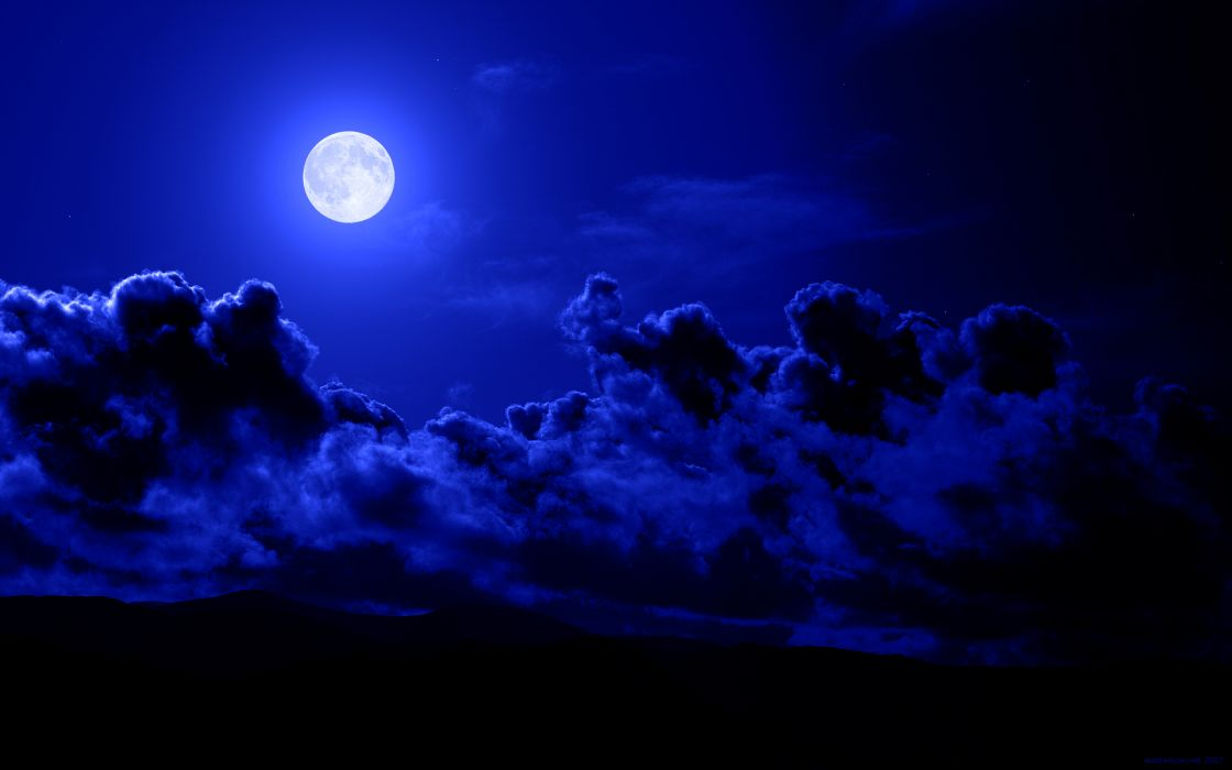 clouds Moon skyscapes wallpaper