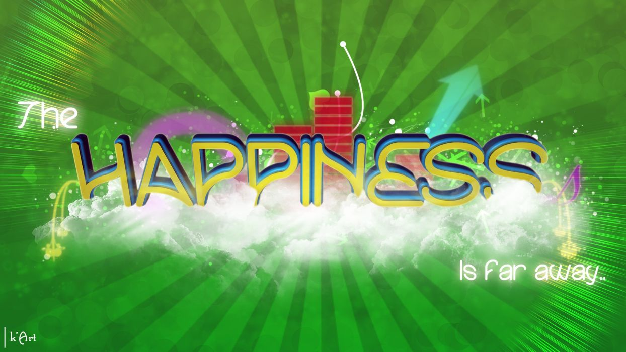 green multicolor happiness unreal sadness wallpaper
