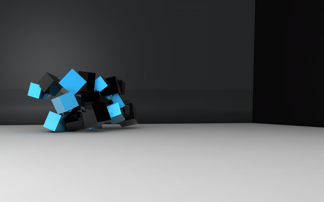 abstract blue black wallpaper