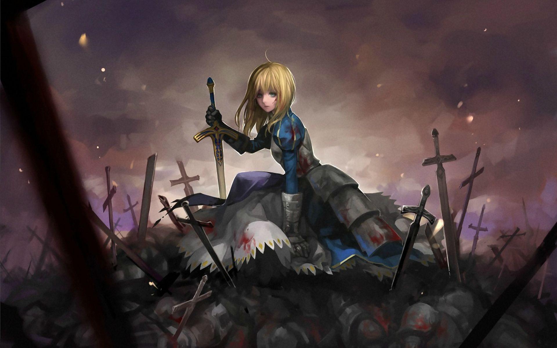 blondes anime girls imgur wallpaper 1920x1200 230243