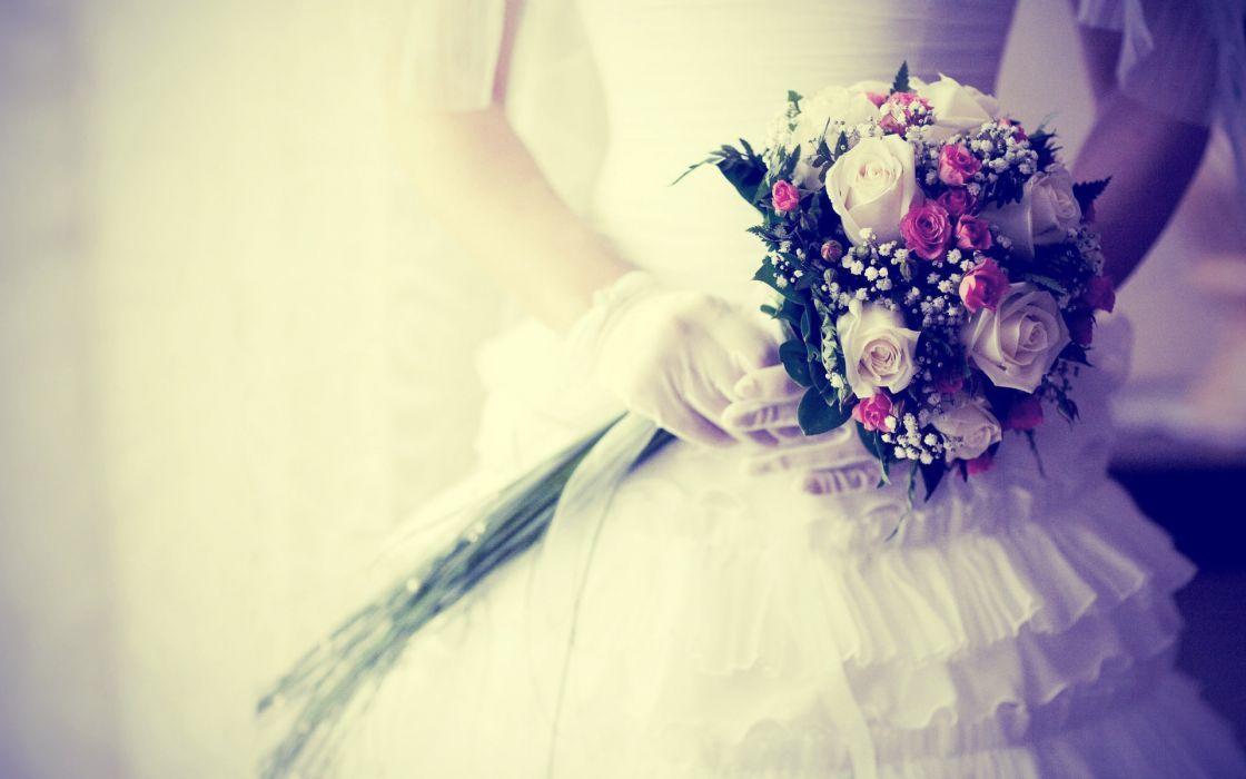 women flowers weddings wallpaper
