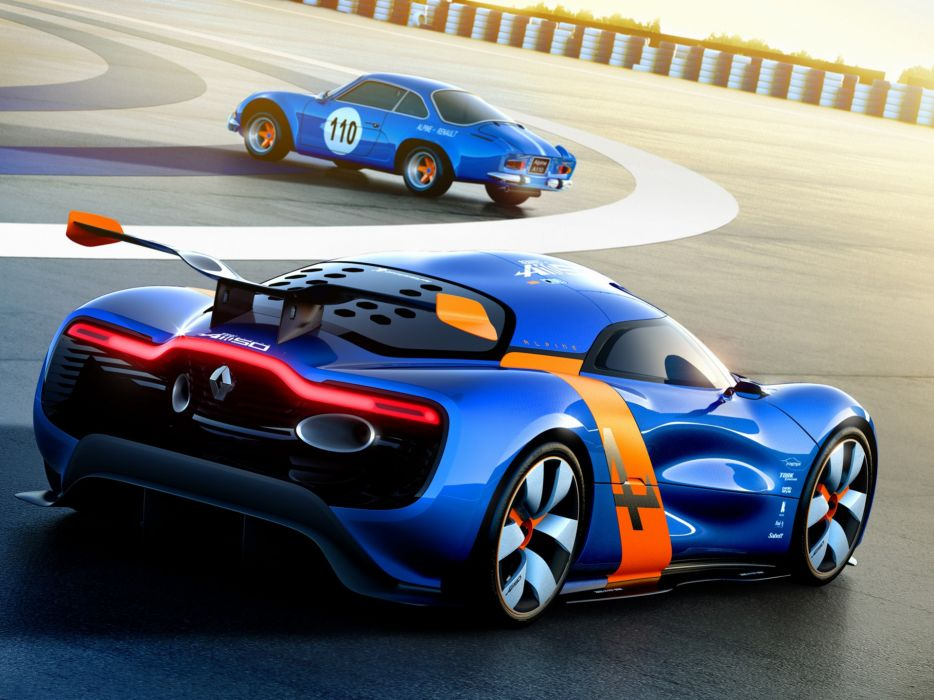 cars concept art supercars Renault Alpine racing cars Renault Alpine A110-50 wallpaper