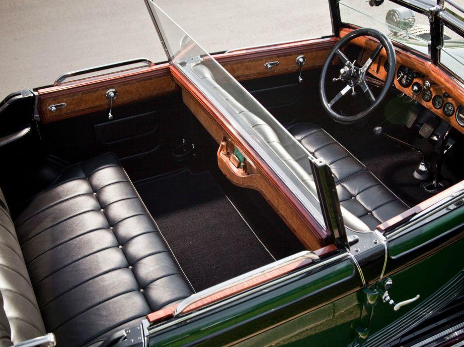 1929 Rolls Royce Springfield Phantom I Convertible Sedan Hibbard Darrin luxury retro interior i wallpaper