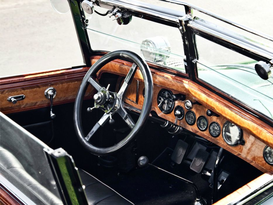 1929 Rolls Royce Springfield Phantom I Convertible Sedan Hibbard Darrin luxury retro interior   g wallpaper