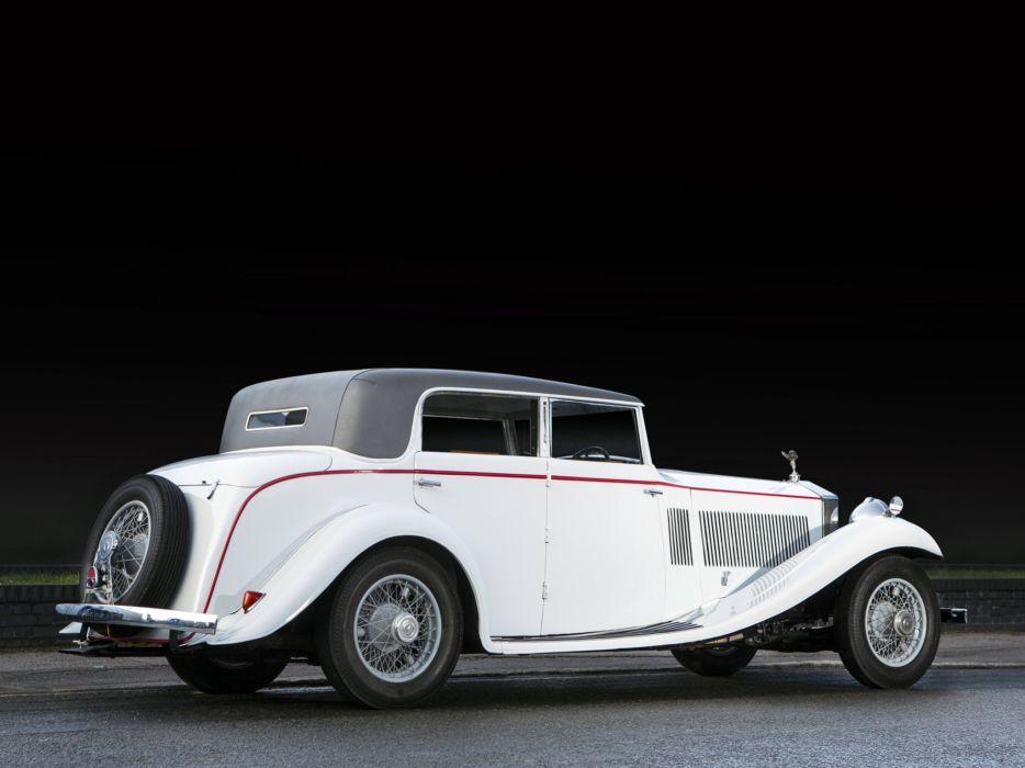 1934 Rolls Royce Phantom II Continental Sports Saloon Gurney Nutting retro luxury  g wallpaper