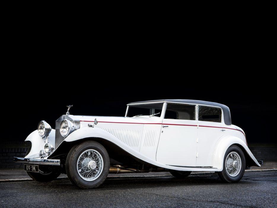 1934 Rolls Royce Phantom II Continental Sports Saloon Gurney Nutting retro luxury    h wallpaper