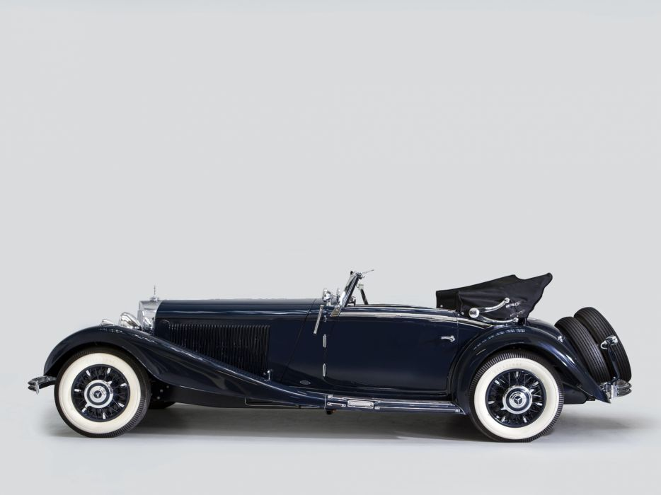 1935 Mercedes Benz 500K Cabriolet A luxury retro ff wallpaper