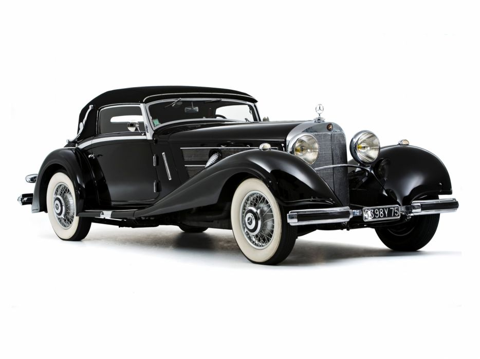 1935 Mercedes Benz 500K Cabriolet A luxury retro  re wallpaper
