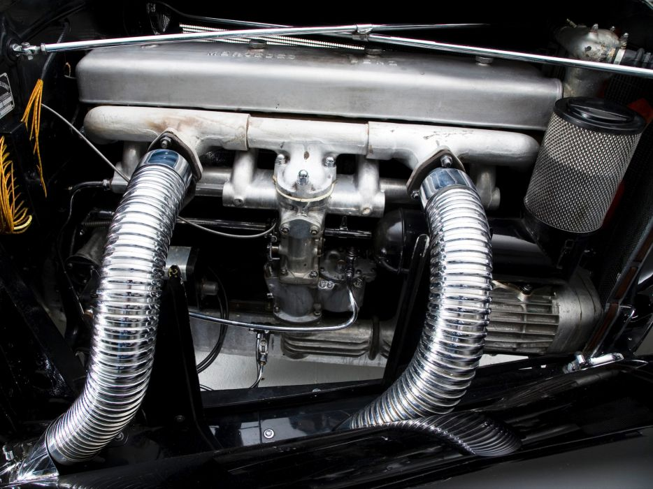 1935 Mercedes Benz 500K Cabriolet A luxury retro engine     f wallpaper