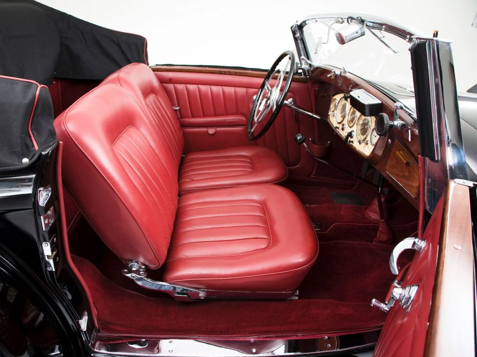 1935 Mercedes Benz 500K Cabriolet A luxury retro interior    f wallpaper