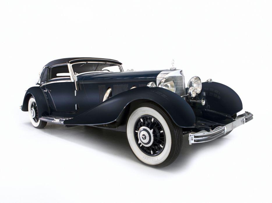 1935 Mercedes Benz 500K Cabriolet A luxury retro      f wallpaper