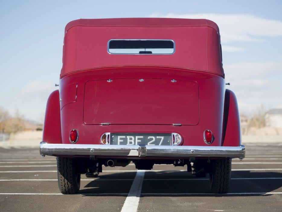 1937 Rolls Royce Wingham 4-door Cabriolet Martin Walter luxury retro r wallpaper