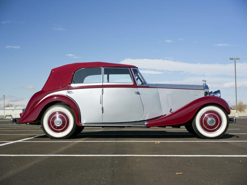 1937 Rolls Royce Wingham 4-door Cabriolet Martin Walter luxury retro  f wallpaper
