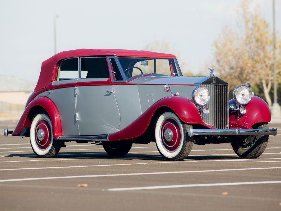1937 Rolls Royce Wingham 4-door Cabriolet Martin Walter luxury retro   e wallpaper