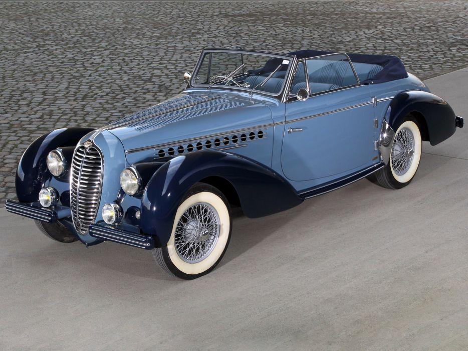 1949 Delahaye 135 M Cabriolet Guillore retro luxury  f wallpaper