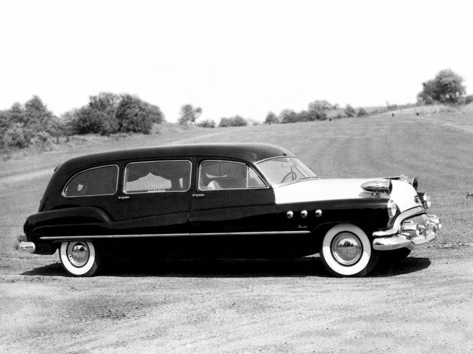 1951 Flxible Buick Sterling Combination emergency ambulance hearse stationwagon retro     g wallpaper