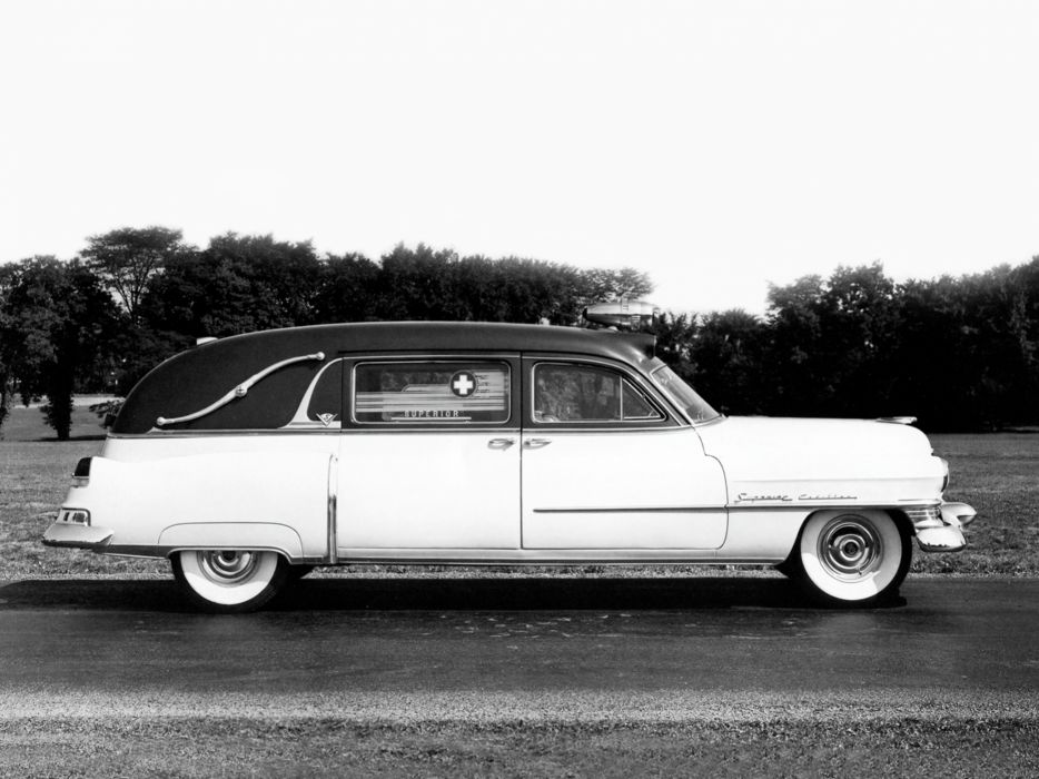 1952 Superior Cadillac Landaulet Ambulance (52-75-86) emergency stationwagon retro     g wallpaper