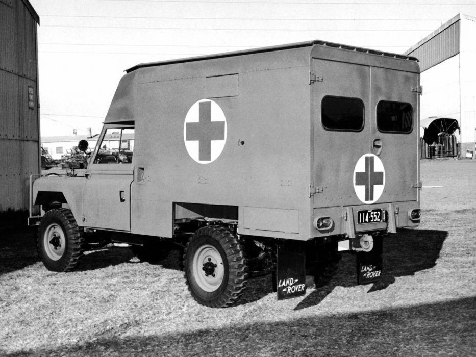 1963 Land Rover Series IIA 109 G-S Ambulance emergency 4x4 military classic     f wallpaper
