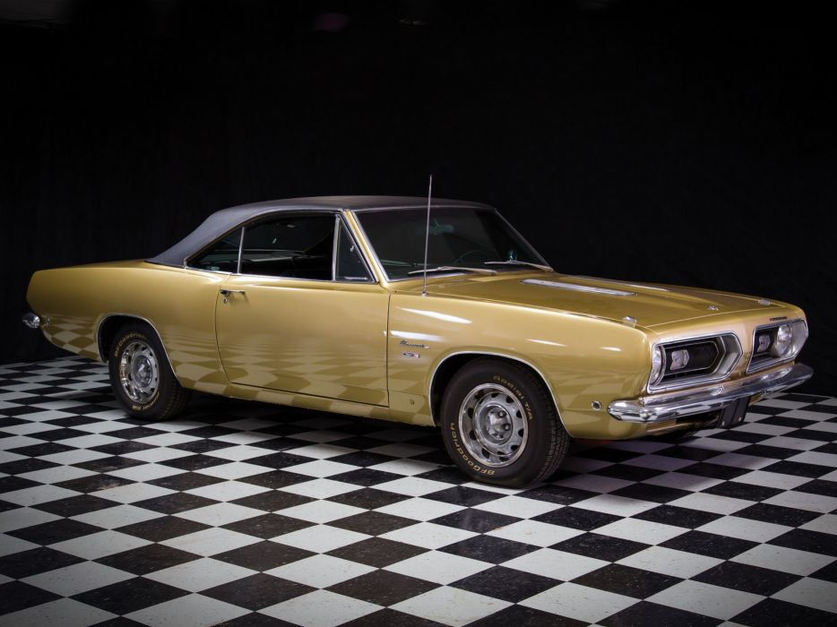 1968 Plymouth Barracuda Hardtop (BH23) muscle classic   f wallpaper