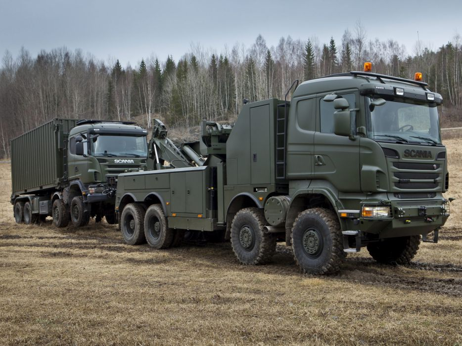 2010 Scania R730 8x8 Recovery towtruck military semi tractor emergency   f wallpaper