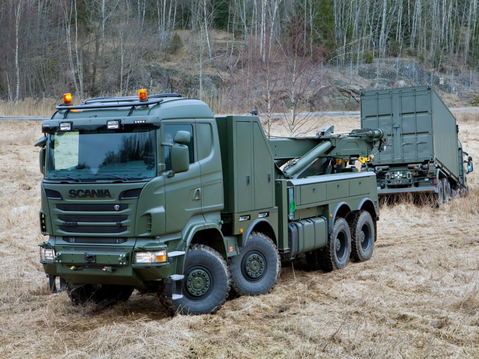 2010 Scania R730 8x8 Recovery towtruck military semi tractor emergency  g wallpaper