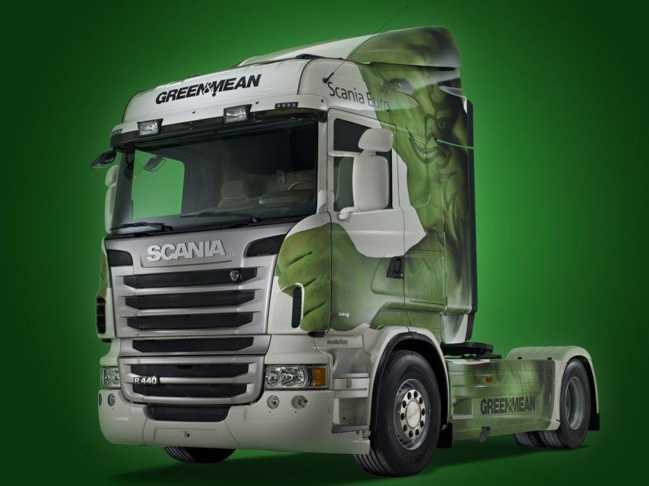 2013 Scania R440 4x2 Ecolution Highline semi tractor    g wallpaper