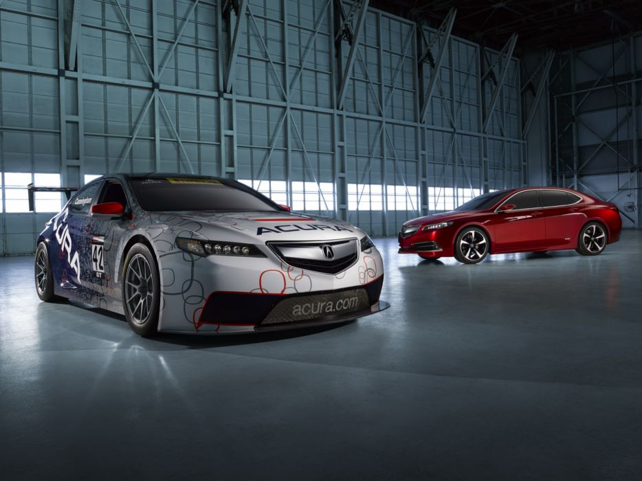 2014 Acura TLX race racing      f wallpaper