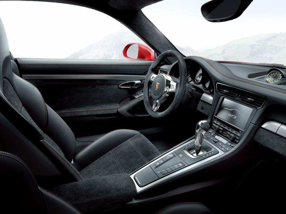 2014 Porsche 911 GT3 991 supercar interior      g wallpaper