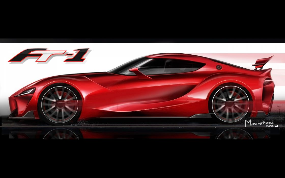 2014 Toyota FT-1 Concept supercar poster logo  de wallpaper