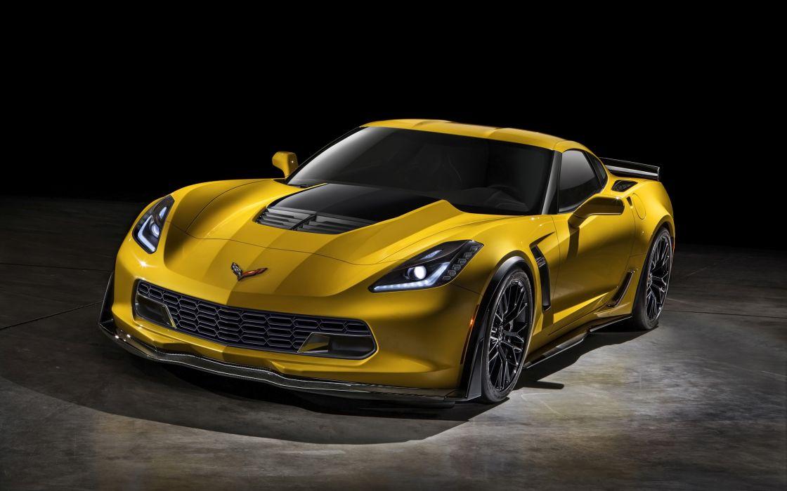 2015 Chevrolet Corvette Stingray Z06 (C-7) supercar muscle  hj wallpaper