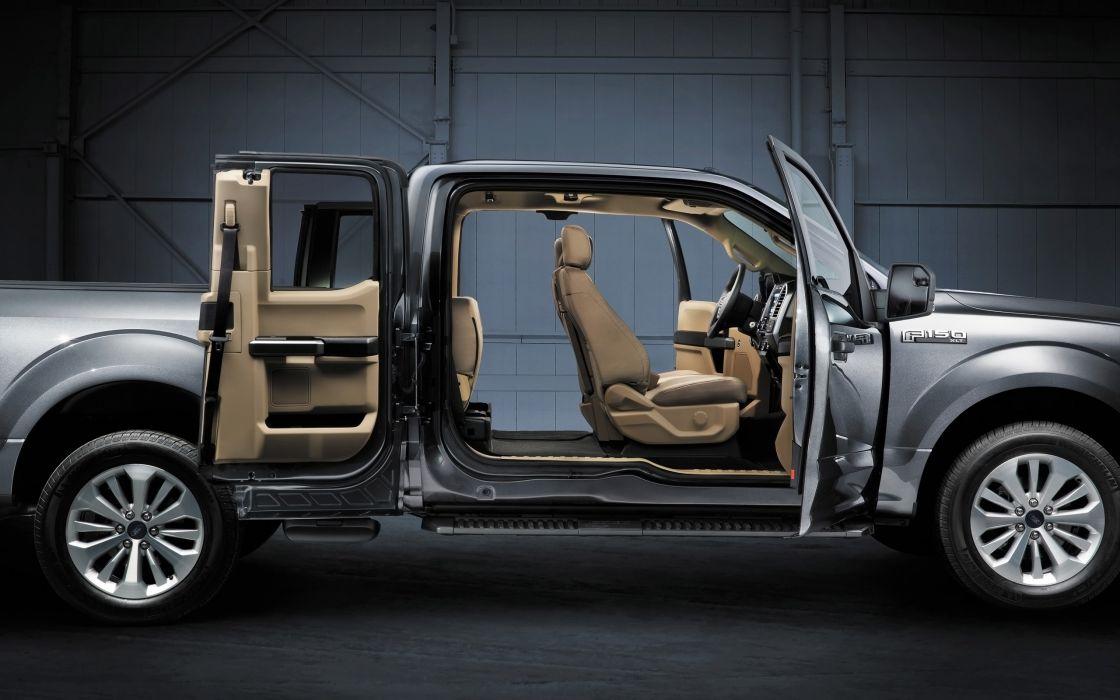 2015 Ford F-150 Platinum pickup interior  g wallpaper